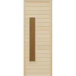 Банная дверь со стеклом МС-2
